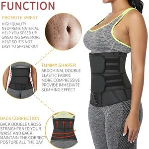 Image 3 - Waist Trainer Women Slimming Sheath Workout Trimmer Belt Latex Tummy Shapewear Sauna Body Shaper Corset Sweat Reducing Girdles