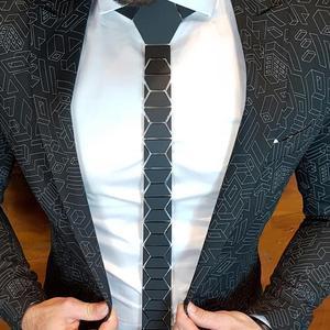 Геометрические стильные модные черные матовые ромбовидные галстуки в классическом стиле обтягивающие мужские черные галстуки