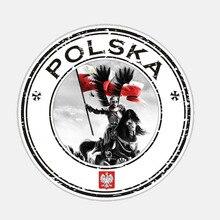 11.2CM*11.2CM Accessories Round Poland Polska Husarz Decal Car Sticker Cover Scratches Waterproof