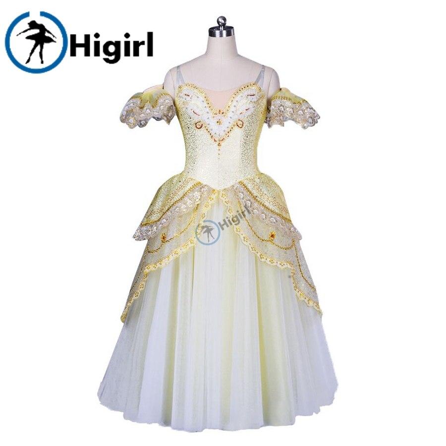 Gregory Bailey auksinė romantiška baleto tutu suknelė suaugusiųjų balerina kostiumai balerina suknelė vaikams giselle baleto kostiumaiBT8902B