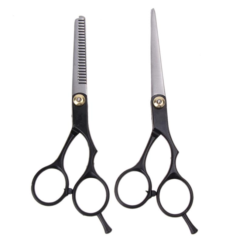 2pcs Salon Professional Barber Hair Cutting Thinning Scissors Shears Hair