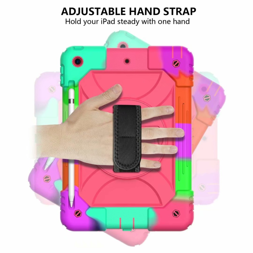Case iPad 7th 360 For Pencil Holder Hand Cover iPad Rotating Stand Strap Generation For