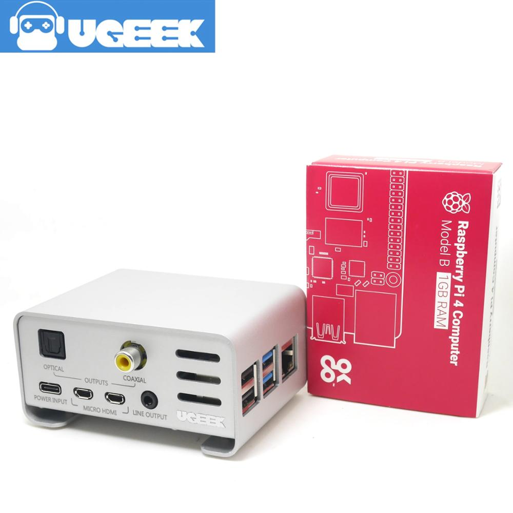 Aluminium Case And UGEEK AOIDE Digi Pro Work With Raspberry Pi 4 Model B/4B DIY Your HiFi Player Build With Raspberry Pi