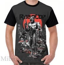 Engraçado impressão homens t shirt mulheres Tops tee RoboCop-Gráfico Novee Estilo Gráfico T-Shirt O-neck Manga Curta Casual t-shirts