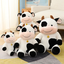 30/40/50cm Huggable Recheadas Bonecas Linda Gado da Vaca de Leite Bonito Dos Desenhos Animados de Pelúcia Boneca de Pelúcia Para Crianças Kid Presente de Aniversário Do Bebê