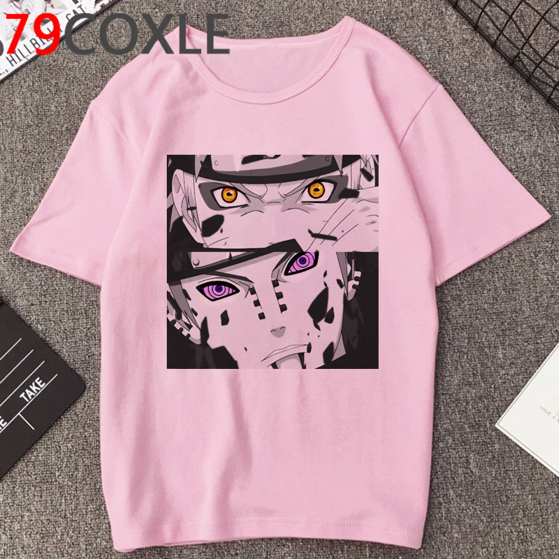 Anime NARUTO Akatsuki Harajuku T Shirt For Men Summer Sasuke Fashion Cartoon T-shirt Casual Unisex Tshirt Funny Top Tees Male
