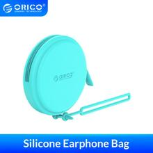 ORICO Portable Mini Storage Case Silicone Earphone Case Sweet Macaron box Warterproof Coin Purse For USB Cables SD TF Cards