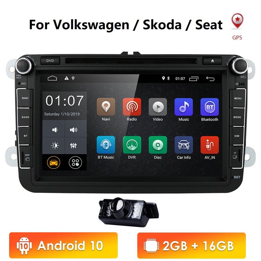 """Android 10 8"""" 2din Car DVD for VW POLO GOLF 5 6 POLO PASSAT B6 CC JETTA TIGUAN TOURAN EOS SHARAN SCIROCCO CADDY with 4GGPS Navi car dvd for vw 2din car dvdcar dvd - AliExpress"""