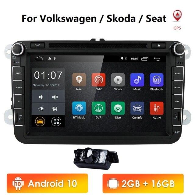 """Android 10 8"""" 2din Car DVD for VW POLO GOLF 5 6 POLO PASSAT B6 CC JETTA TIGUAN TOURAN EOS SHARAN SCIROCCO CADDY with 4GGPS Navi"""