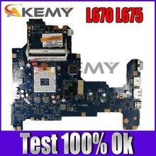 Akemy k000103760 nalaa LA-6041P placa-mãe do portátil para toshiba l670 l675 rev 1.0 hm55 ddr3 completo testado