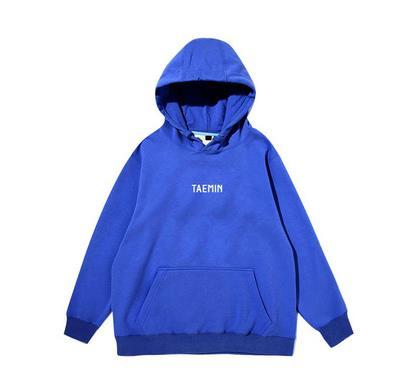 New Arrival Kpop Shinee Taemin Same Name Printing Pullover Hoodies Unisex Simple Fleece/thin Loose Sweatshirt 2 Colors