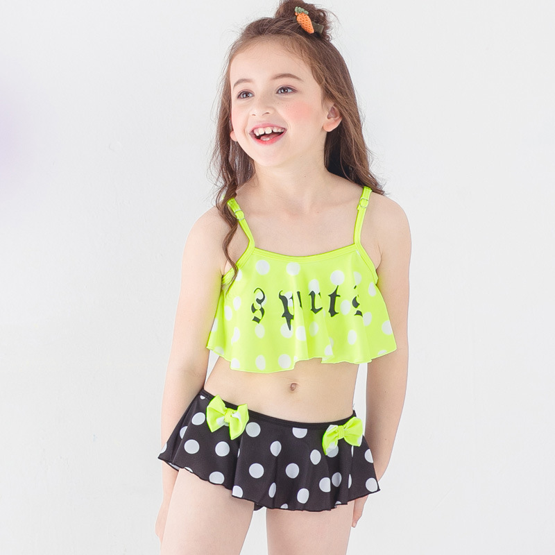 PA Yasen New Style Bathing Suit-Style Children Cute Cartoon Split Skirt-Two-Piece Bathing Suit 1813