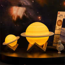 New 3D Printing Saturn Lamp Personality Smart Home Night Light Led Light Creative Moonlight Bedside Lamp Birthday Gifts Lamp