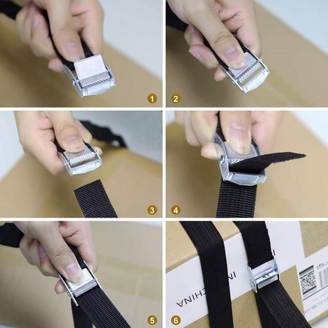 Фото 6pcs tie down straps fastening strap heavy duty nylon lashing цена