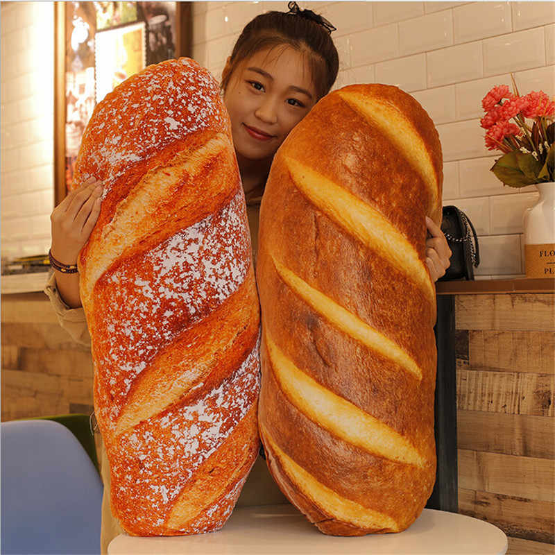 60cm large soft simulated bread plush pillow big stuffed french baguette toy doll nice child gift