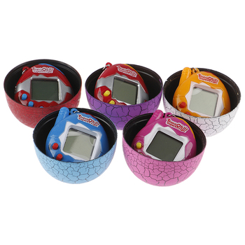 Kids Electronic Virtual Pet Machine E-pet Dinosaur Egg Toys Cracked Eggs Cultivate Game Machine for Children Boy Girls image