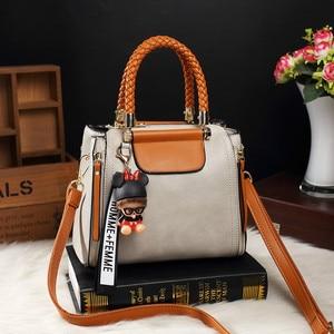 Image 3 - Brand Medium Large Capacity Ladies Totes Zipper Bear Strap Thread Shopping Office Women Crossbody Shoulder Bag Handbags