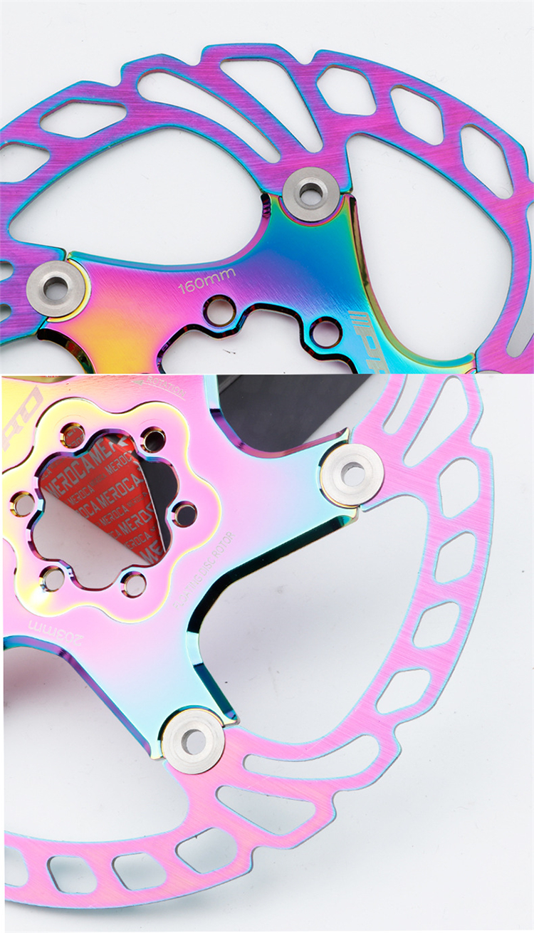 Rainbow MTB Quick Cool Down Disc Brake Rotor Full CNC Colorful Road Bike brake disc 140/160/180/203mm
