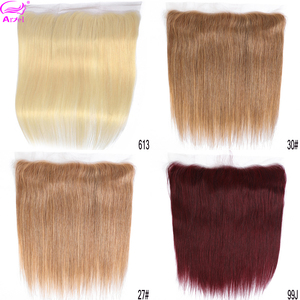 Ariel 613 Straight Frontal 27 30 Lace Frontal Closure 13*4 Three/Middle/Free Part Malaysian Remy Blonde Human Hair Frontal 99J(China)