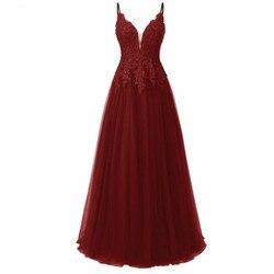 Elegante Lange Bruidsmeisje Jurken Met Kant Applique Een Lijn Spaghetti Strap Floor Lengte Prom Jassen Wedding Party Gast Dress Gown