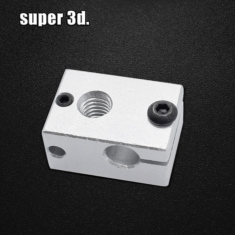 New Upgraded Aluminium V6 Heat Block 23*16*12 Mm For E3D V5 V6 PT100 J-head Extruder HotEnd Heater Heating 3D Printer Accessorie