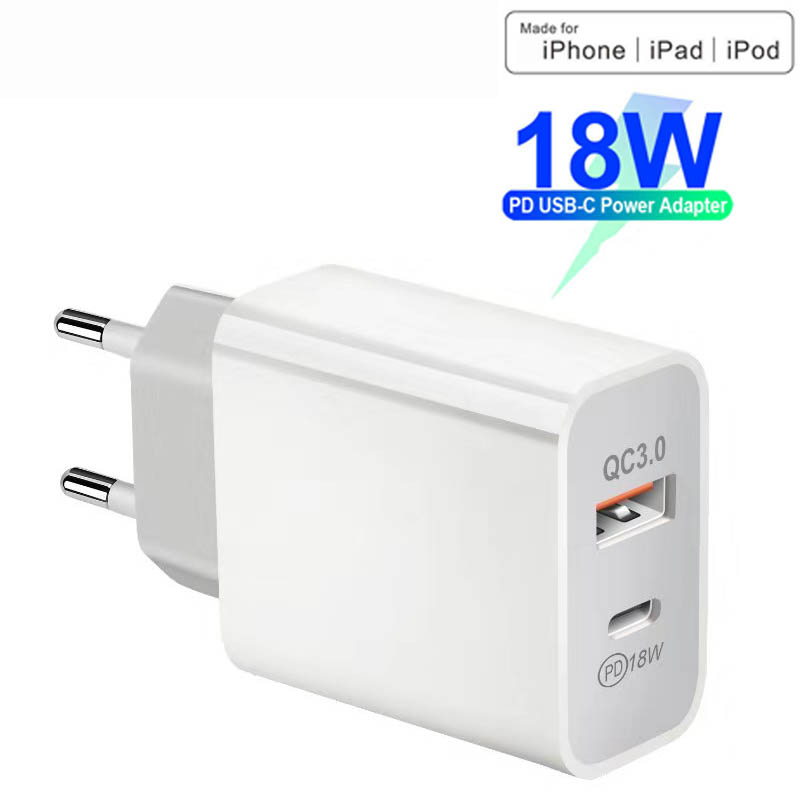 18W PD USB Type C Charger Adapter For iPhone 11 Pro XR X Xs Max 7 8 Fast Charging QC3.0 Quick Charge For Samsung Huawei Xiaomi|Mobile Phone Cables| |  - title=