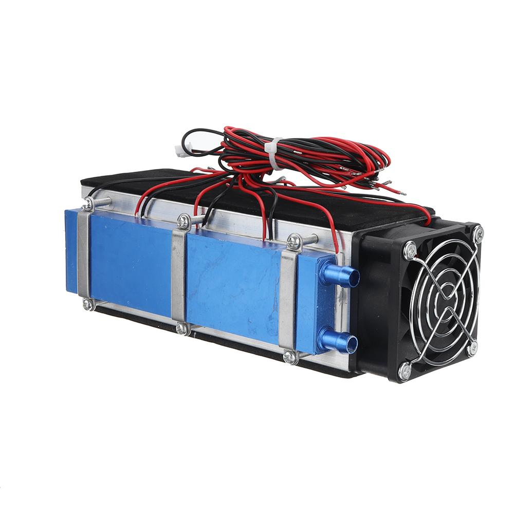 12V 576W 8 Chip DIY Electronic Semiconductor Refrigeration Radiator For Air Conditioner Thermoelectric Cooling System Kit