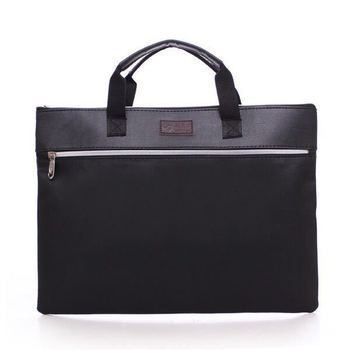 Business custom A4 zipper Men Briefcase Document Bags High capacity Portable File folder/a case for documents /filing xiaobaomao a4 commercial business document bag tote file folder filing meeting bags pocket office bags pocket large capacity