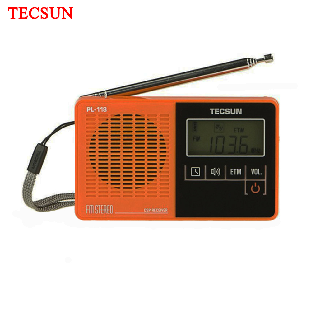 TECSUN PL-118 Ultra-Light <font><b>Mini</b></font> Radio, PLL <font><b>DSP</b></font> FM Band Radio image
