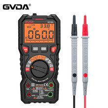 GVDA NEW Digital Multimeter Ture RMS Auto Range 6000 Counts Multimetro 1000V 10A AC DC Ohm Hz NCV Live Voltage Temperature Meter