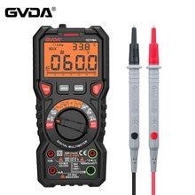 Gvda novo multímetro digital ture rms escala automática 6000 contagens multimetro 1000v 10a ac dc ohm hz ncv medidor de temperatura tensão ao vivo