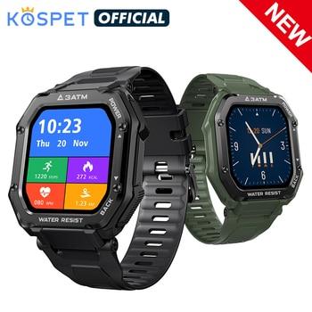 Smartwatch 2021 KOSPET ROCK Rugged Watch For Men Outdoor Sports Waterproof Fitness Tracker Blood Pressure Monitor Smart Watch 1