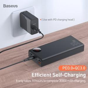 Image 4 - Baseus Quick Charge 3.0 30000 MAh Power Bank Type C PD 30000 MAh PowerbankแบบพกพาภายนอกสำหรับiPhone xiaomi Mi