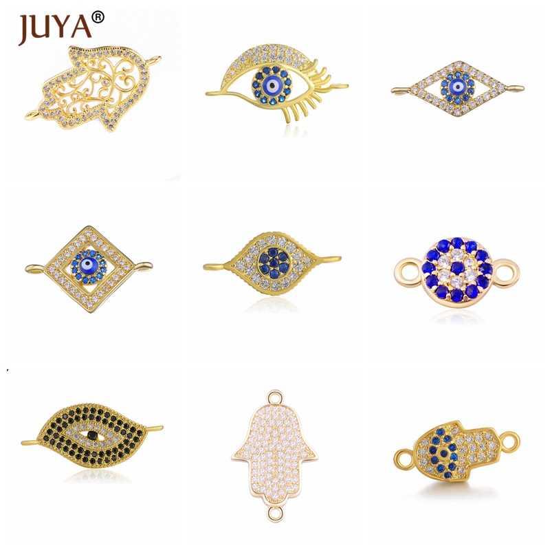 Mode mauvais œil Fatima main Talisman amulette bijoux accessoires fournitures pour bricolage fabrication Bracelets résultats composants