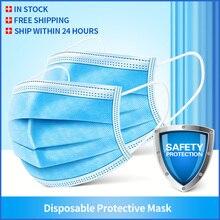 50/100Pcs פה מסכות 3 חד פעמית שאינו ארוג מסכות הפנים נגד זיהום מסנן בטוח לנשימה מסכת להגן על Mascherine