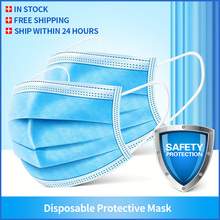 50/100Pcs Mouth Masks 3 layer Disposable Non woven Face Masks Anti Pollution filter safe Breathable Mask Protect Mascherine