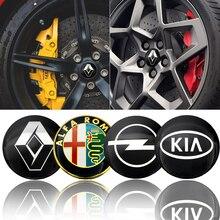 Sticker Wheel-Center-Hub Car-Emblem-Tire 56mm Fords Audis Toyotas Hondas Peugeots Volkswagens