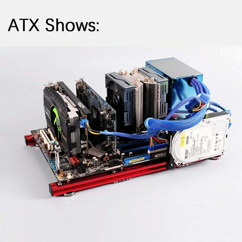ITX MATX ATX PC Test Bench Computer Open Frame Overclock Air Case Mini Aluminum HTPC PC Support Graphics Card 3.0USB Reset DIY