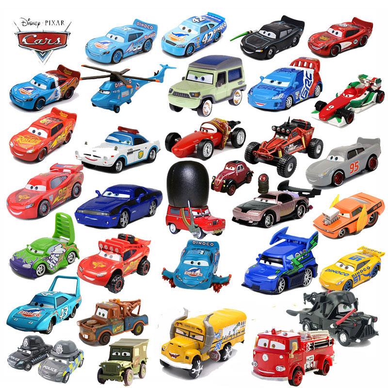 Disney Pixar Cars 2 3 Lightning McQueen Axelrod Mater miss Mother 1:55 Diecast Vehicle Metal Alloy Boy Kid Toys Christmas Gift