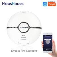 WiFi Smart Rauch Feuer Alarm Sensor Detektor Home Security System Batterie-powered Alarm Wireless Smart Leben Tuya App Control