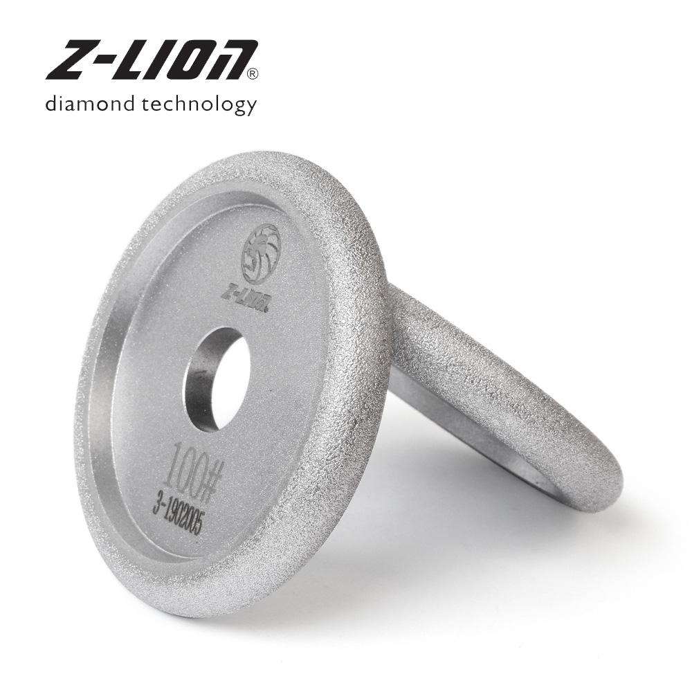 Z-LEAP 100mm Vacuum Brazing Diamond Grinding Wheel Granite Marble Concrete Fluting Disc Grooving Sanding Polishing Abrasive Pads