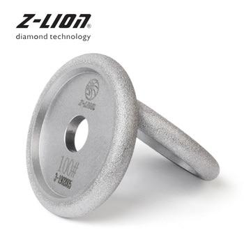 Z-LEAP 100mm Vacuum Brazing Diamond Grinding Wheel Granite Marble Concrete Fluting Disc Grooving Sanding Polishing Abrasive Pads