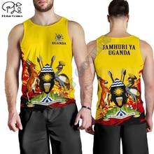 Men Women I love Uganda print 3D Hoodies Funny flag Sweatshirt Fashion Hooded Long Sleeve zipper Pullover tshirt tee tracksuit Vest 11