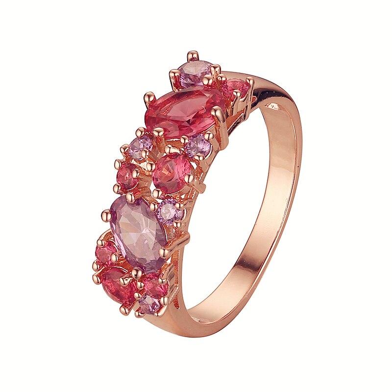 Женские свадебные кольца из смешанного кубического циркония, кольца 2020, новая мода 585 золотого цвета, Женские Ювелирные изделия|Кольца для помолвки| | АлиЭкспресс