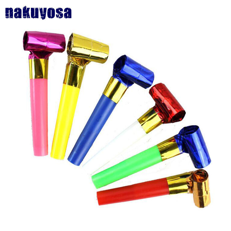 10pcs Hot Party Toys Hat Baby Toys 0-12 Months Plastic Small Blow Dragon Whistle Cheer Leading Birthday Party Toys For Children