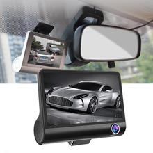 Car Full HD Dual car lens DVR Camera LCD screen Night Vision Rearview Mirror Auto Dash G-sensor Recorder