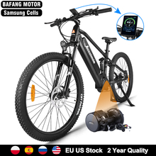 Bicycle Bafang Ebike Mid-Motor Powerful No-Tax Mountain-E Electric-Bike-48v Full-Suspension