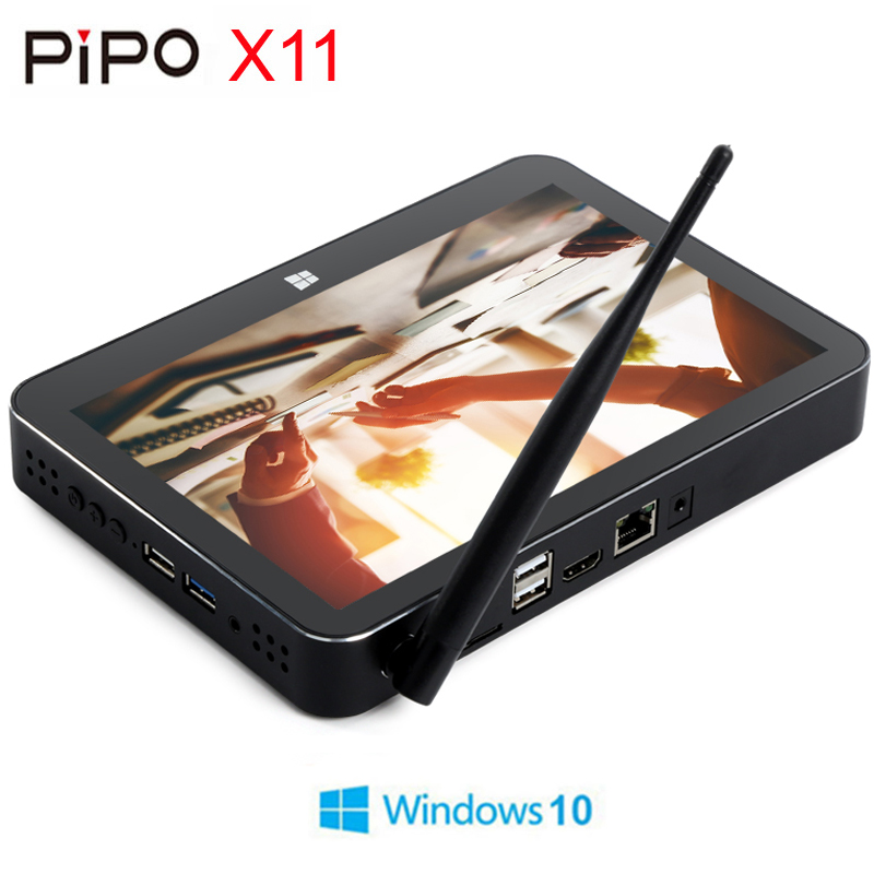 PIPO X11 Mini PC Intel Cherry Trail Z8350 2GB/32GB Smart TV Box Windows 10 OS 8.9 Inch 1920*1200P Touch Screen