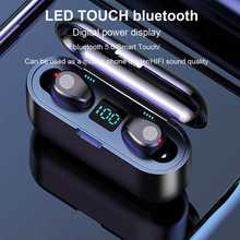 F9 bluetooth 5.0 TWS Draadloze Koptelefoon LED Display Portable Waterdichte Stereo Sport Binaural Earbus Met 2000mAh Bank(China)