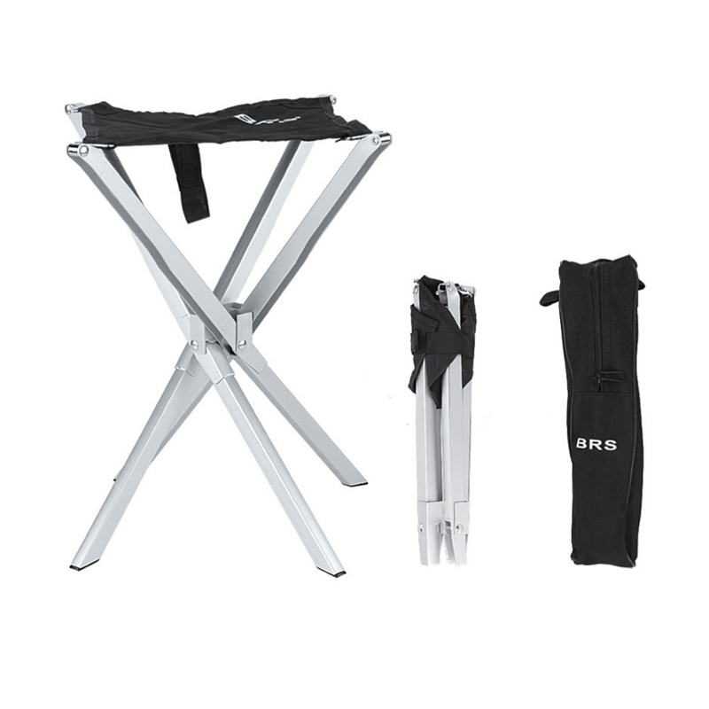 Ultralight Outdoor Folding Stool Fishing Chairs Camping Chair  Mini Folding Stool Oxford+Aluminum Alloy Bearing 90kg
